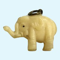 Vintage Celluloid Elephant Charm Early Plastics
