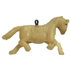 Vintage Celluloid Horse Charm Early Plastics