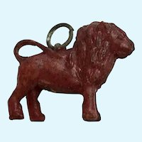 Vintage Celluloid Lion Charm Early Plastics
