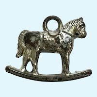 Vintage Charm Rocking Horse Early Plastics Jewelry