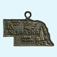 Vintage Sterling Silver Nebraska State Charm