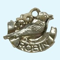 Vintage Robin Bird Charm Early Plastics Jewelry