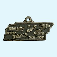 Vintage Tennessee State Sterling Silver Charm