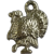 Vintage Turkey Silver-Tone Metal Charm
