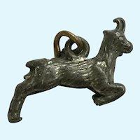 Vintage Goat or Antelope Pewter Charm