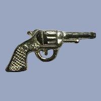 Vintage Handgun Pistol Revolver Gun Charm Early Plastics Jewelry