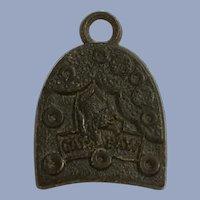Vintage Boot Heel Charm Cats Paw Early Plastics Jewelry