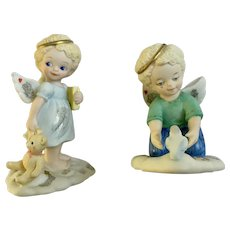 Bronson Collectables Bedtime in the Clouds and A Tender Moment Angel Figurines