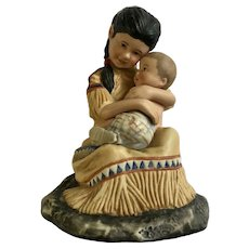 Tender Love by Gregory Perillo Mother Holding Child Figurine 1982