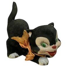 Enesco Imports Figaro Cat with Fuzzy Coat Mid-Century Figurine Japan