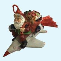 American Fighter Jet Plane Santa Claus Pilot