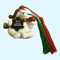 Polar Bear Beary Special Teacher Christmas Tree Ornament