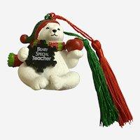 Polar Bear Beary Special Teacher Christmas Tree Ornament