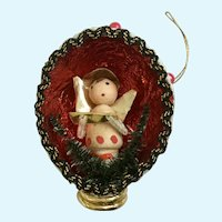 Mid-Century Christmas Angel Diorama Ornament
