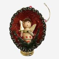 Mid-Century Christmas Angel Diorama Ornament