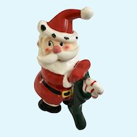 Vintage Santa Claus Holding a Stocking Figurine Japan