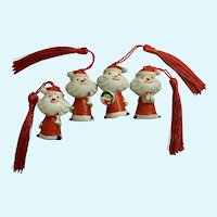 Vintage Holt Howard Santa Claus Christmas Ornaments Japan #6511