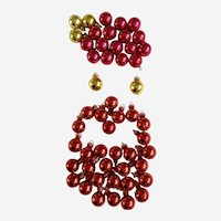 51 Vintage Mercury Small Christmas Ball Ornaments
