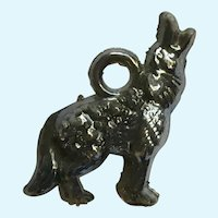 Vintage Howling Coyote Charm Early Plastics Jewelry Eppy
