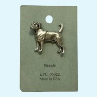 Beagle Dog American Pewter Works 1986 Lapel Pin
