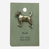 Beagle Dog American Pewter Works 1986 Lapel Pin