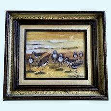 Klumb, Sandpiper Birds on Beach Coastal Painting