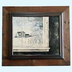 Tom (Thomas) Agazzi, Window Scene Realistic Oil Painting