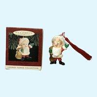 Elmer Fudd Santa Christmas Ornament Hallmark 1993