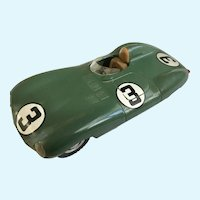Vintage Jaguar Merit Racing Car 1954 D Type Plastic Made in England