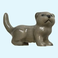 Hagen Renaker Scottish Fold Kitten Grey Cat Figurine 1989-1990