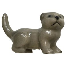 Hagen Renaker Scottish Fold Kitten Grey Cat Figurine 1989-1990