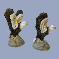 Vintage Bald Eagle Bone China Miniature Figurines
