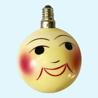 Vintage Smiling Happy Face Light Bulb Made in Japan
