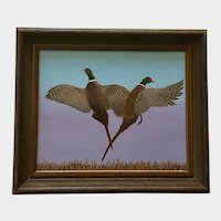 LeAnn Smith Ring-Necked Pheasant Birds Wildlife Acrylic Painting