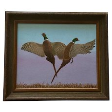 LeAnn Smith Ring-Necked Pheasant Birds Wildlife Acrylic Painting