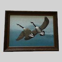 LeAnn Smith Geese Flying Wildlife Acrylic Painting