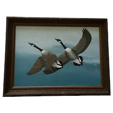 LeAnn Smith Geese Flying Wildlife Acrylic Painting
