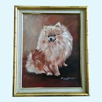 Ingrid Jansson Pomeranian Dog Portrait Oil Painting