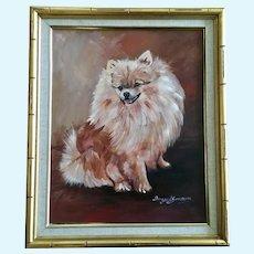 Ingrid Jansson Pomeranian Dog Portrait Oil Painting