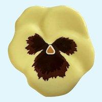 Avon Yellow Pansy Flower Pin Brooch 1981
