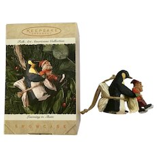 Santa and Penguin Learning to Skate Keepsake Ornament Hallmark