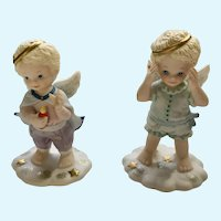 Bronson Collectables Peek-A-Boo in the Clouds Guiding Light Angel Figurines
