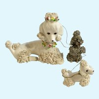 Mid-Century Spaghetti Poodle Chain Dog Mom and Puppies