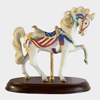 Lenox Carousel Horse Pride of America American Flag 1991