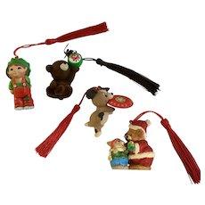 Vintage Hallmark Christmas Ornaments 4 Pieces
