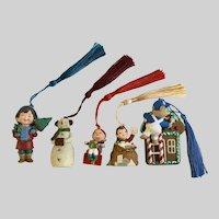 Vintage Hallmark Christmas Ornaments Discontinued 5 Pieces