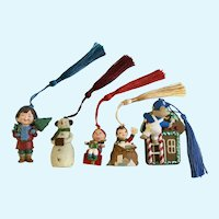 Vintage Hallmark Christmas Ornaments Discontinued 5 Pieces