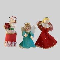 Vintage Christmas Ladies Ornaments Tree Toppers