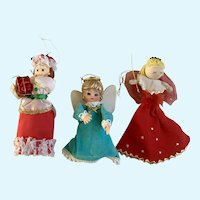 Vintage Christmas Ladies Ornaments Tree Toppers