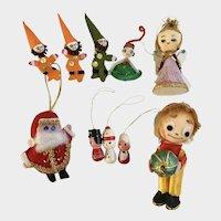 Vintage Christmas Tree Ornaments 10 Pieces